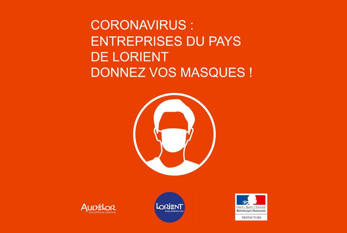 Coronavirus : entreprises du Pays de Lorient, donnez vos masques !