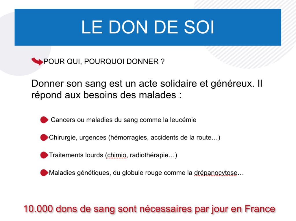 Pour qui, pourquoi donner son sang. Maison du don Lorient. Don du sang